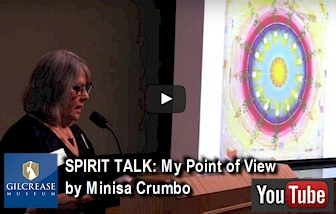 Minisa Crumbo presentation at Gilcrease Museum in Tulsa, OK - November 6, 2015